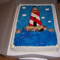 Lighthouse.jpg   I did this one just for fun. I used candy rocks, graham cracker crumbs, chocolate shells, and a fbct.