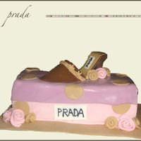 Prada Shoe  This was the first shoe cake I made with the template I downloaded from CC and it was sooo much easier than the shoes I've made in the...