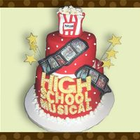 High School Musical Cake All decorations made of fondant.