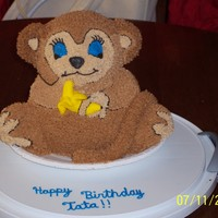 Monkey Cake trial run for a cake I'm going to do in September.