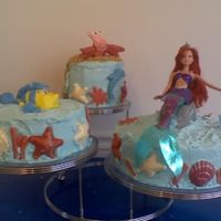 Ariel I made fruit cake with Ariel, Sebastian and Flounder