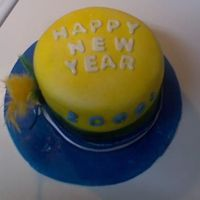 New Years Hat Rainbow cake