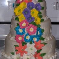 My First Wedding Cake 3-tier cake with Royal Icing flowers