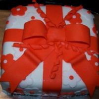 The Orange Gift Box Fondant Gift box