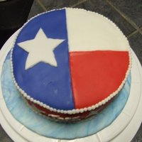 Texas Flag I was learning fondant so I did this as a practice.