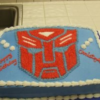 Transformer Optimus Prime Cake I hadn't even seen the movie and only had a few days notice to make this Transformer cake so I just created a template from pics on...