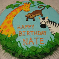 Jungle Animals Birthday Cake this was a b-day cake for my son, who just turned 3. The theme of the party was jungle animals, so I made some animals and the leaves from...