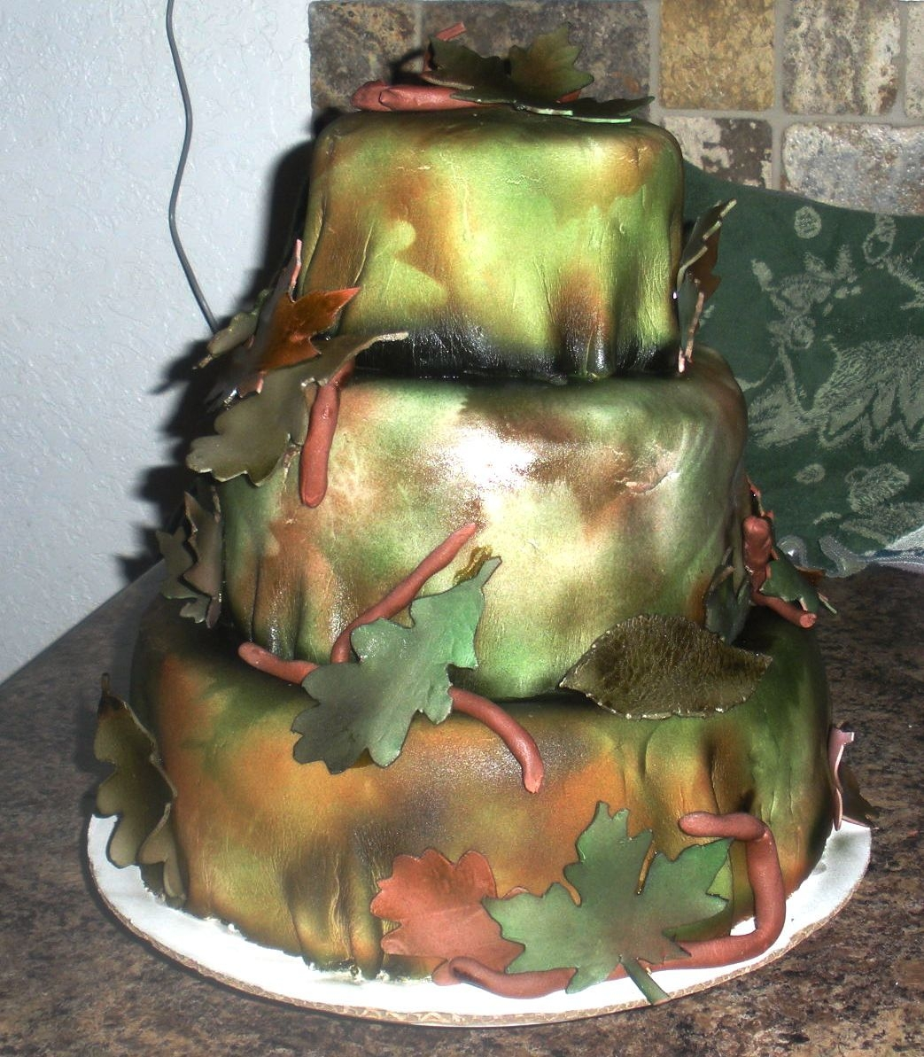 Woodland Camo Themed Wedding