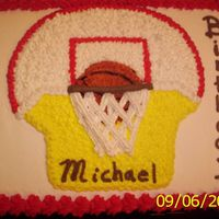 Basketball Cake Tray the picture of the basketball ball and the base and use the apropiated color to bring the picture alive in a 3D impression.