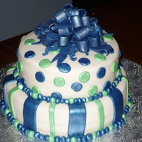 Small Wedding , Blue Green this was a vanilla cake with vanilla filling , covered in mmf