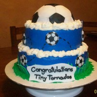 Go Tiny Tornados! This cake was emailed to me from a cousin of mine who wanted me to replicate it for her tiny tornado....come to find out it was originally...