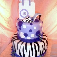 18Th Birthday Cake Purple and Zebra Cake for an 18th birthday surprise