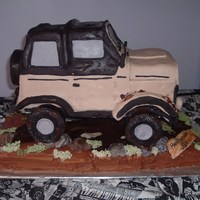 Jeep Wrangler Birthday Cake This cake was done on a stand similar to one another CCer used on a monster truck. (Thanks for the inspiration!) The cake is a copy of the...