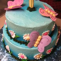 Baby's First Butterfly Birthday Cake