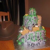 Indiana Jones Lego Cake All MMF decorations. Lego men not edible! lol :o) Thanks for looking!!