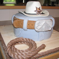 Cowboy Theme Cake Another cowboy theme cake I did for a friend. I was excited to finally try the Italian buttercream for this cake! It turned out amazing and...