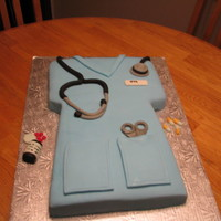 Nursing Scrubs A cake I made for a nursing conference for PN's I was going to. Thanks DianeLM for the inspiration!!!