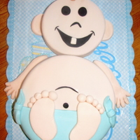 Baby Cake Baby Shower cake for a friend. Thanks so much to milliegonza for her inspiration for this cake!!!