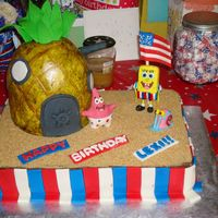 Sponge Bob Patrick Gary Americana For a little girls B-Day near the 4th of July so the theme was sponge bob and americana, I was given decorators freedom and this is what I...