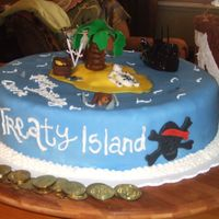 Pirate Cake   This was made for a 30th Pirate/Ninja party that a friend had. Its all done in fondant.