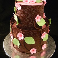 Chocolate Cherry Blossom Cake