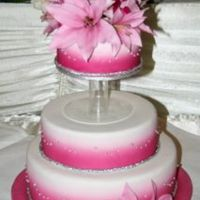 Wedding Cake 2006 Wedding cake with oriental lillies, hot pink colour