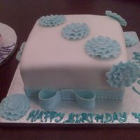 Pretty In Blue Vanilla sponge cake, almond-vanilla bc fondant, decoration fondant some gumpaste for support, tfl!! Happy Baking!!