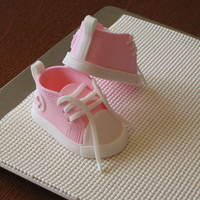 Baby Shoes Made three pairs of baby shoes (for friend to choose from) for a baby shower cake. Started with cutters and the excellent instructions for...