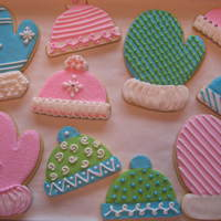 Christmas Cookies -- Mittens And Hats