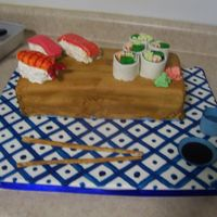 Sushi Cake, Full View from the Confetti Cakes cookbook.