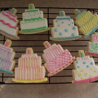 Birthday Cake Cookies For Paul NFSC with royal icing.