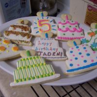 Birthday Cake Cookies Sugar cookies with royal icing.
