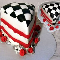 Dear Friend Who Raced Cars  Birthday cake made for the best man in our wedding (who raced cars, and went 4 wheelin' with us back in the day) while he was in the...