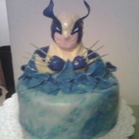 Wolverine Comic The comic version of Wolverine from the X Men, emerging from water after once again defeating the enemy. 8 inch round cake covered in...