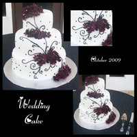 Black And White Scroll Cake