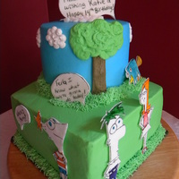 Phineas & Ferb Had a request for a P & F cake and was stumped! I'm very familiar with the show, it's always on at my house, but it's...