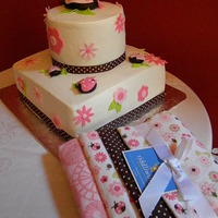 Lady Bug Baby Shower I was given the blankets and asked to try and make the cake to match. This is what I came up with. Mom & Dad to be loved it!