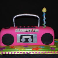 "80's Style Boombox The guy asked for a ""80's style cake that uses your imagination.."" well I ran with that idea and decided to give him a..."