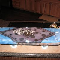Noah's Skateboard Just another angle....a look from the top.