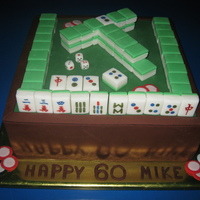 Mazhong Birthday Cake Sugarhandcrafted Chinese domino and then handpainted