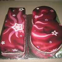 18Th Birthday Cake Entirely airbrushed cake