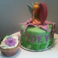 Tinkerbell Smash Cake for tinkerbell