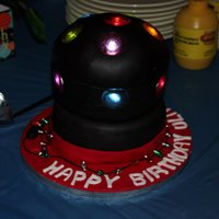 Disco Ball Disco ball cake . I used little lights