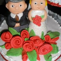 Novios my first attend to do wedding couple/mis primera vez haciendo los noviosfondant