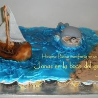Bible Story Jonas I made this cake for children at church,I tell the story in the cake125 cupcakes, whale and the shipdiferent flavors Hope you like it!!!