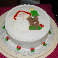 Santa & Rudolph   Freehand with buttercream icing