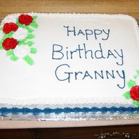 Grannys Birthday Cake   Freehand. Buttercream