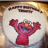 Elmo   This is a butter cream transfer.
