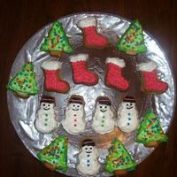 Christmas Cookies Sugar Cookies Decorated With ButterCream.