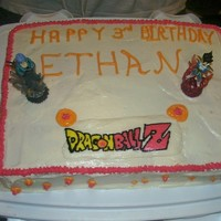Dragon Ball Z I did this sheet cake for a friend. Butter cream Transfer